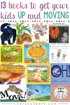 Looking for ways to engage and motivate your young readers? Here are 13 picture books that will get early readers up, moving, and having fun while reading. Simple, repetitive, and rhyming texts for emergent readers in pre-k, kindergarten, and first gra