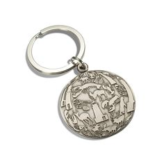 Maine Impressions key ring in nickel silver or brass - Akakpo, Portland, ME