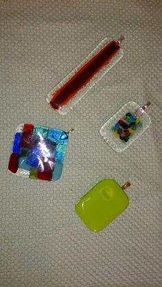 Halssmycken, glasfusing.