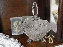 vintage Bleikristall Dose Bonboniere shabby chic
