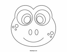 Crocodile mask templates including a coloring page version