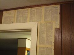 My Definition of Home...A Dictionary Wall