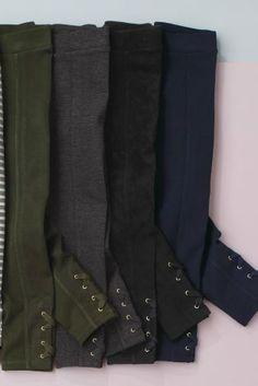 Black Lace Up Leggings (3-16yrs)