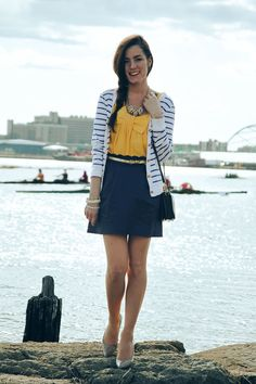 Loving the Yellow Top! Kate Spade -- Classy Girls Wear Pearls: Yellow Bows & Brown Rows