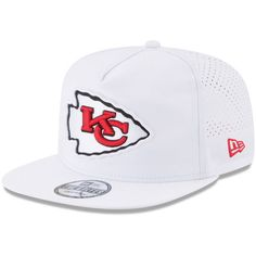 d74a4d3485a Kansas City Chiefs New Era 2017 Training Camp Official A-Frame Golfer Hat -  White · Nfl ...