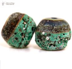 Glass lampwork beads Rustic Antiquities FOREST by radiantmind, $19.00