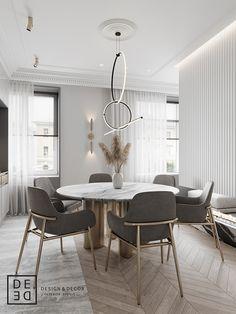 Room Interior, Modern Interior, Home Interior Design, Luxury Dining Room, Dining Room Design, Küchen Design, House Design, Cover Design, Design Ideas