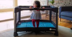 """You could win a $2500 Babies""""R""""Us Gift Card! Watch the 4moms breeze playard video to enter."""
