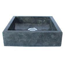 Naturstein Marmor Waschbecken Waschschale Waschtisch 30 cm klein schwarz
