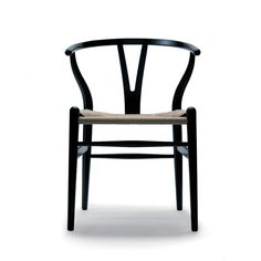 Classic - Hans Wegner's Wishbone chair in black