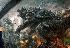 Fantastic artwork of Anguirus, one of Godzilla's best frenemies.