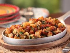Rosemary Home Fries with Pancetta, Parmesan and Parsley. Part of Brunch at Bobby's Tasty Trattoria Brunch episode on the Cooking Channel. Potato Dishes, Food Dishes, Side Dishes, Potato Recipes, Main Dishes, Brunch Recipes, Breakfast Recipes, Breakfast Ideas, Recipes Dinner