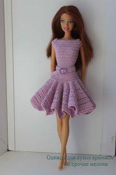 Irresistible Crochet a Doll Ideas. Radiant Crochet a Doll Ideas. Sewing Barbie Clothes, Barbie Clothes Patterns, Clothing Patterns, Crochet Doll Dress, Crochet Doll Clothes, Dress Barbie, Barbie Knitting Patterns, Mode Crochet, Doll Costume