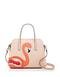 Kate Spade New York Satchels Strut Your Stuff Flamingo Applique Maise Satchel