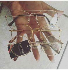 db7bd4852 Óculos de grau feminino armação metálica dourada prateada redonda  geométrica #oculos #oculosdegrau #oculosdourados