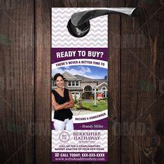 Real Estate Realtor Branding Door Hanger – Berkshire Hathaway Best Picture For Real Estate shirts Fo
