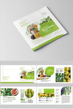 Line color block wind fruit and vegetable brochure Magazine Layout Design, Book Design Layout, Ad Design, Brochure Food, Corporate Brochure Design, Brochure Layout, Brochure Template, Flyer Template, Flyer Design Inspiration