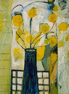 Cynthia Howell Dorothy's Favourite Vase 2006 Abstract Flowers, Abstract Art, Still Life Art, Arte Floral, Art Abstrait, Mellow Yellow, Art World, Art And Architecture, Love Art