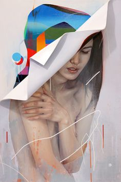 "Erik Jones / 'Under Form' / 24x36"" / Colored Pencil, Wax Pastel, Acrylic. Paper, plastic, wood / 2015[via the absolute PHOTOGRAPHY blog…]"