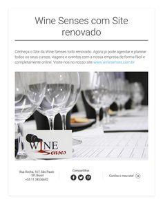 Wine Senses com Site renovado