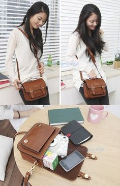 Brown Leather Handbags Instax Mini 7S 8 25 for Fujifilm or Digital Camera Bag 02 | eBay