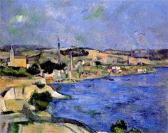 The Bay of l'Estaque and Saint-Henri - Paul Cézanne