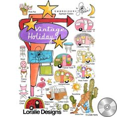 Vintage Holiday Machine Embroidery Design Collection | Compact Disc