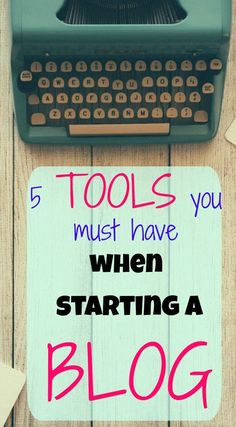 Here are 5 main tools you use have when starting a blog. If you're new to blogging, or even if you've already started a blog, these are necessary essentials to help you succeed at blogging! via @thewaywardhome