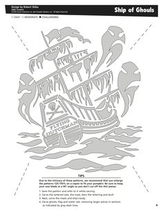 Ship of Ghouls free pattern by Pumpkin Masters