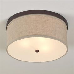 Springfield Linen Shade Ceiling Light