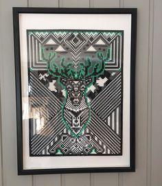 Deer perler bead art by karolineskaret