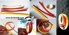 Nine Ideas for Christmas Toys from Colored paper strips | krokotak