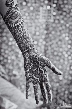 mehendi / henna for auspicious occasions.