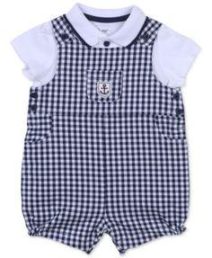 Little Me Baby Boys' 2-Piece Checked Shortall & Shirt Set