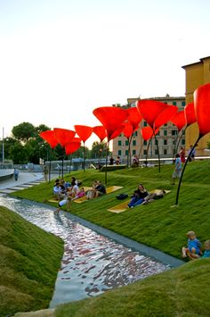 How to build a playground for children? Landscape Architecture Design, Urban Architecture, Water Architecture, Landscape Designs, Urban Landscape, Abstract Landscape, Design D'espace Public, Design Plaza, Parque Linear