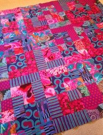 Goldfinch and Eagle: Finished Kaffe Fassett quilt top