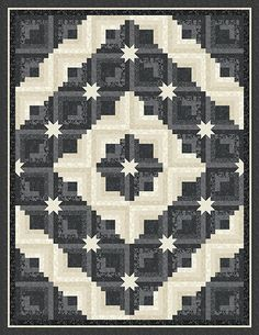 Midnight Sky quilt designed by Jackie Robinson for Anamas Quilting. Quilt kits for sale for $95 + shipping