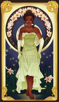 Princesas Disney Art Nouveau