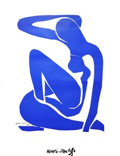 """Completed in 1952, """"The Blue Nudes"""" were inspired by Matisse's collection of African sculptures and by the visit that he made to Tahiti in 1930. Matisse kept a sketchbook of drawings which were the preliminary sketches for the blue nude types."""