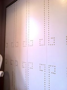 nailhead trim closet doors by Emily Henderson on Secrets If A Stylist