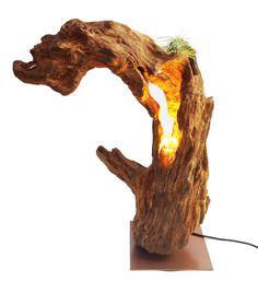 Stehlampen - Treibholzlampe und Skulptur - Der Drache - ein Designerstück von Atelier-Feynsinn bei DaWanda