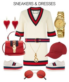 """o v e r l o a d"" by gerrythetailor ❤ liked on Polyvore featuring Gucci and ZeroUV"