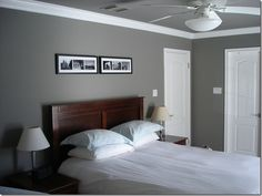 Dovetail by Sherwin Williams. walls and ceiling