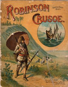 Who inspired the protagonist of the 1719 novel by Daniel Defoe? Robinson Crusoe tells the story of the tumultuous voyages and ultimate survival of a man of a man castaway on an island, but was it based on a real-life castaway? Robinson Crusoe, Vintage Children's Books, Antique Books, Daniel Defoe, World Of Books, Book Show, Political Cartoons, Fiction Books, Illustrations Posters