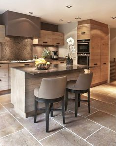 Exceptional modern kitchen room are offered on our website. Check it out and you wont be sorry you did. Farmhouse Style Kitchen, New Kitchen, Kitchen Decor, Kitchen Chairs, Kitchen Ideas, Floors Kitchen, Kitchen Backsplash, Warm Kitchen, Granite Kitchen