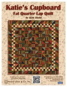 One fat quarter bundle will make this quilt!!! I can't wait to get started on mine!!!