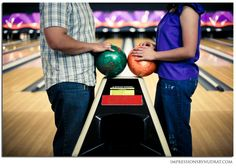 This would be an ideal family photo session for my hubby. BOWLING!