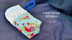 2 WAY POUCH TUTORIAL ‖ BACK TO SCHOOL #HandyMum Pouch Tutorial, Diy Tutorial, Brad Pitt, Mid Autumn Festival, Youtube, 2 Way, Handmade Bags, School Bags, Valentine Gifts