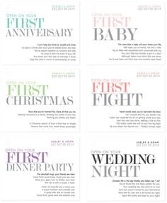 6 Custom Married First Wine Labels