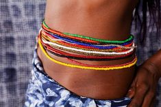 Tour de taille africain à petites perles